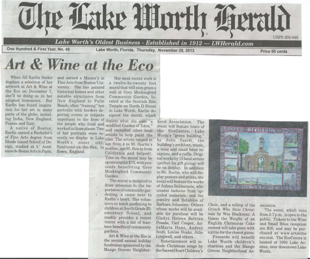 Lake Worth Herald front page 11/28/13